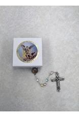 WJ Hirten St. Michael Multicolored Pearl Rosary
