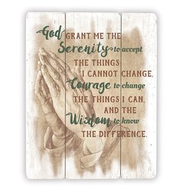 Gerffert Serenity Prayer Wooden Plaque