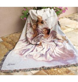 """Manual Woodworkers & Weavers Angelic Tapestry Throw (50"""" x 60"""")"""