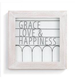Demdaco Grace Love And Happiness Wall Decor