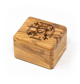 Cedar House Olive Wood Box Passion of Christ