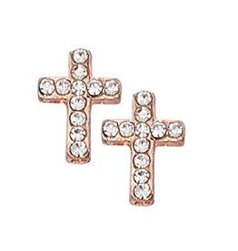 McVan Copper Crystal Cross Earrings