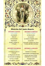 Misterios del Santo Rosario Tarjeta