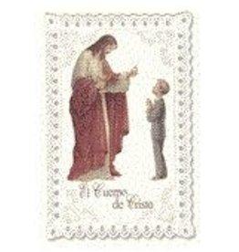 WJ Hirten Lace Holy Card First Communion Boy Spanish