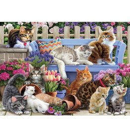Vermont Christmas Company Jigsaw Puzzle-A Cat's Life (1000 pieces)