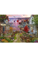 Vermont Christmas Company Jigsaw Puzzle-Evening In The Harbour (1000 pieces)