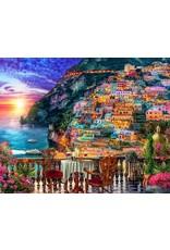 Vermont Christmas Company Jigsaw Puzzle- paradise-Positano Sunset (1000 Pieces)