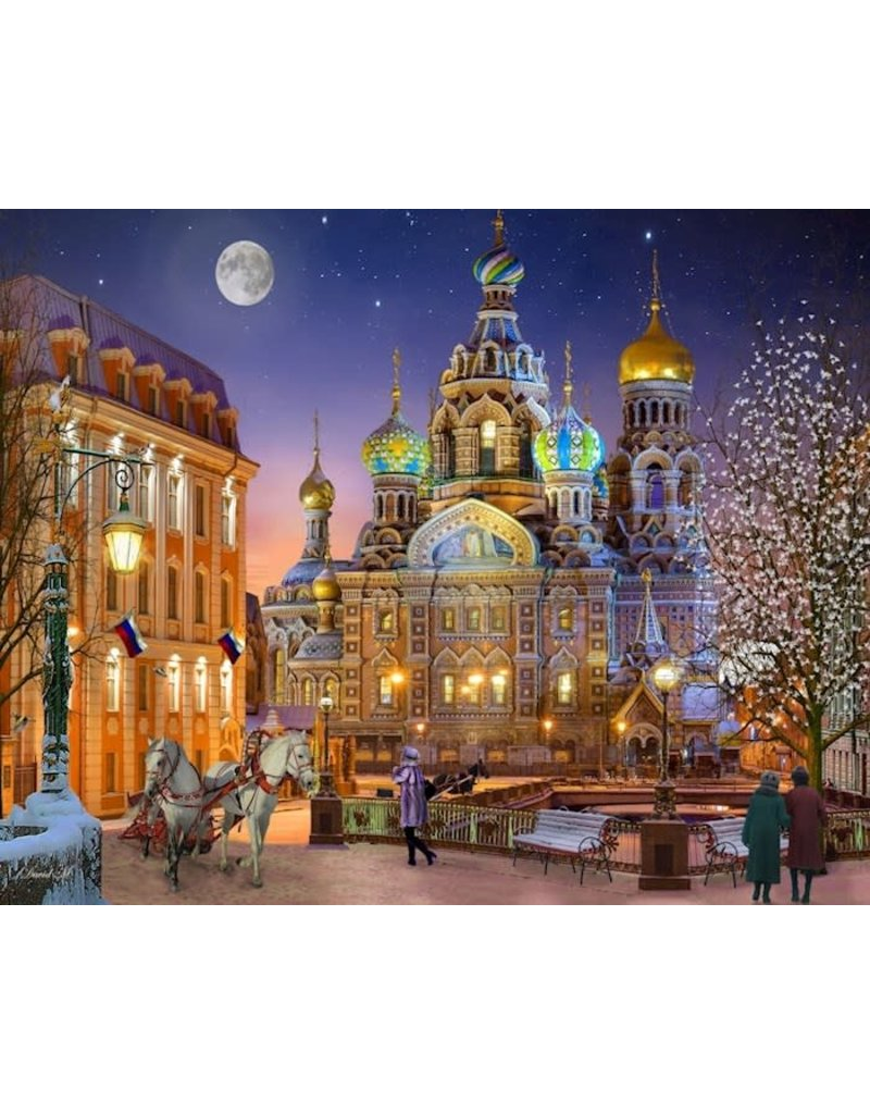 Vermont Christmas Company Jigsaw Puzzle-Russia With Love (1000 Pieces)