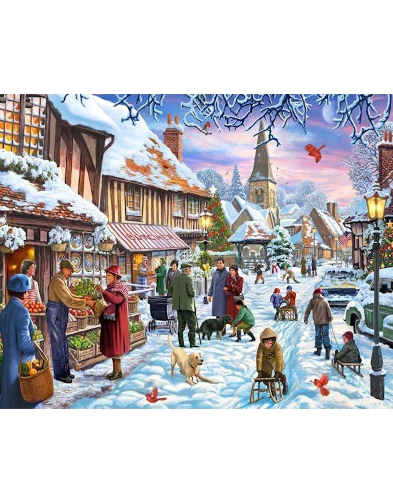 Vermont Christmas Company Jigsaw Puzzle-Winter Stroll (1000 Pieces)