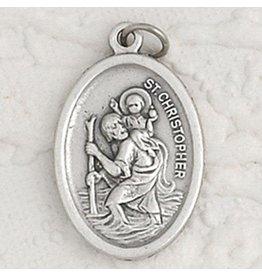 """Lumen Mundi 1"""" St. Christopher Oval Medal"""