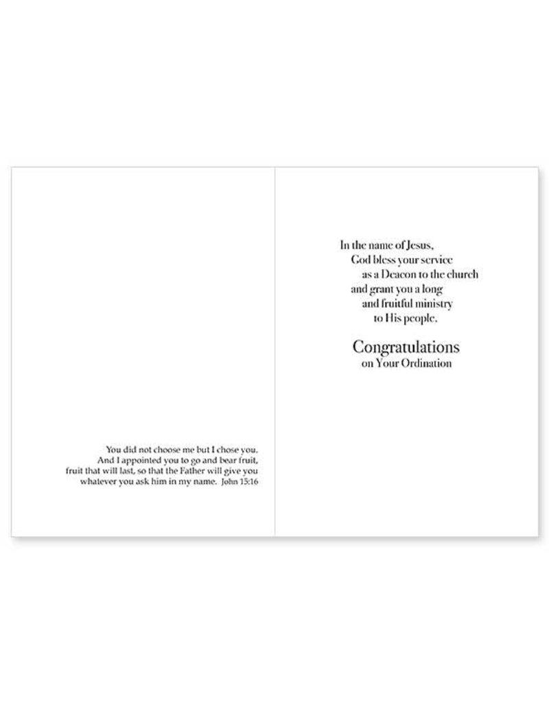 The Printery House Called By God, Ordained a Deacon Deacon Ordination Congratulations Card