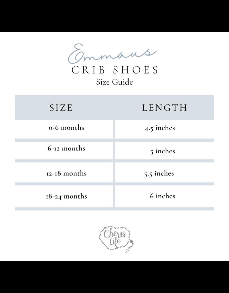 Chews Life Emmaus Crib Shoes: Baptismal (3-6 mos)