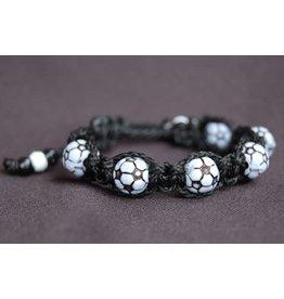 Devon Trading Company Black Soccer Sports Bracelet