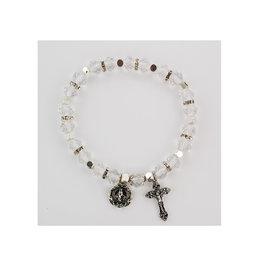 HJ Sherman Crystal Stretch Bracelet Clear