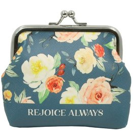 Swanson Christian Products Coin Purse -Rejoice Always