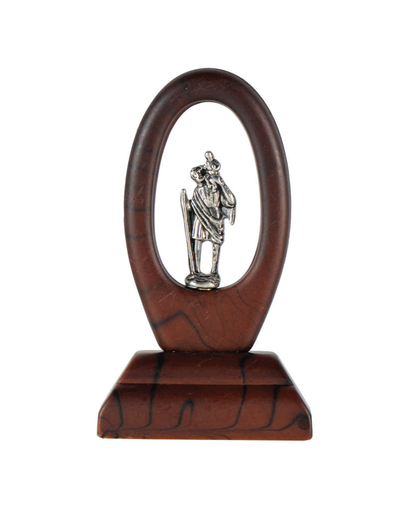 Sine Cera 2.5″ St. Christopher Auto Dashboard Figurine
