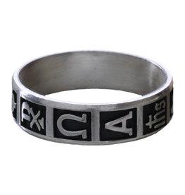 Sine Cera Sterling Silver Christian Symbols Ring Size 10
