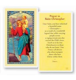 WJ Hirten Holy Card - Saint Christopher