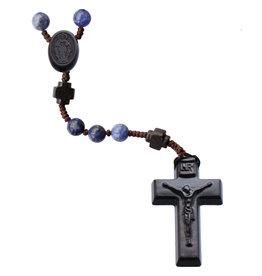 Sine Cera 6mm Sodalite/Jujube Wood Rosary
