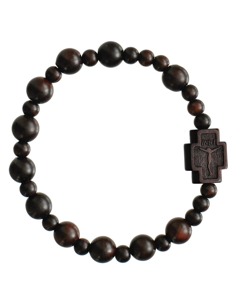 Sine Cera 8mm Jujube Wood Rosary Bracelet
