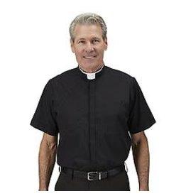 R.J. Toomey Short Sleeve Milano Comfort Shirt Black (Size 15.5)