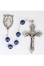 McVan 7mm Locklinked Metallic Blue Rosary