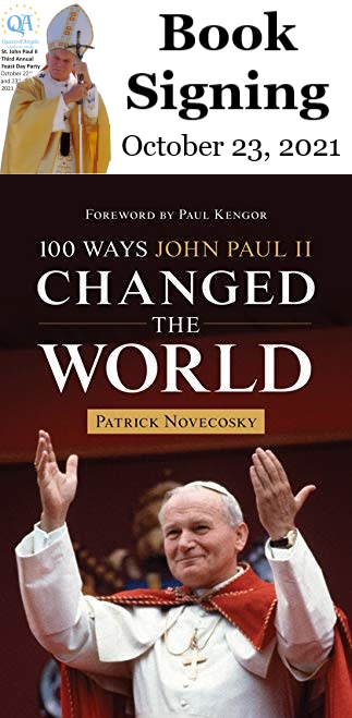 St. John Paul II Third Annual Feast Day Party - Patrick Novecosky Book Signing