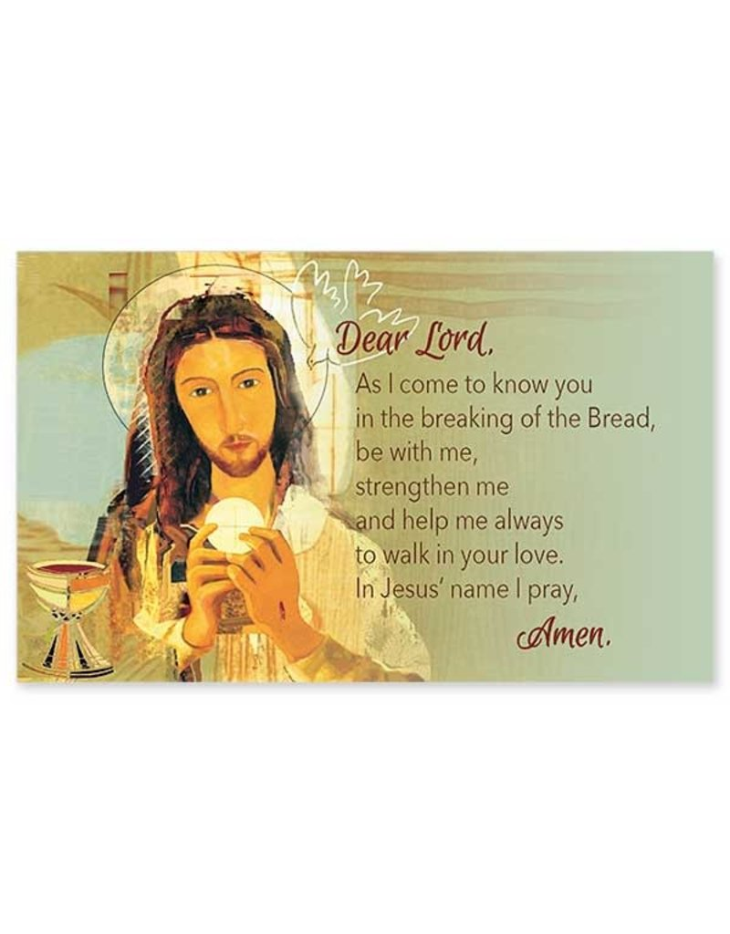 The Printery House Dear Lord, as I Come to Know You First Communion Prayer Card