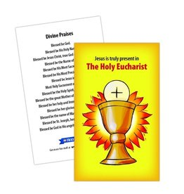 Holy Heroes The Holy Eucharist Prayer Card