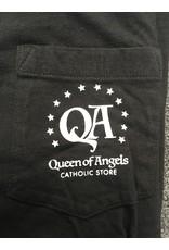 Queen of Angels Faith American Flag T-Shirt