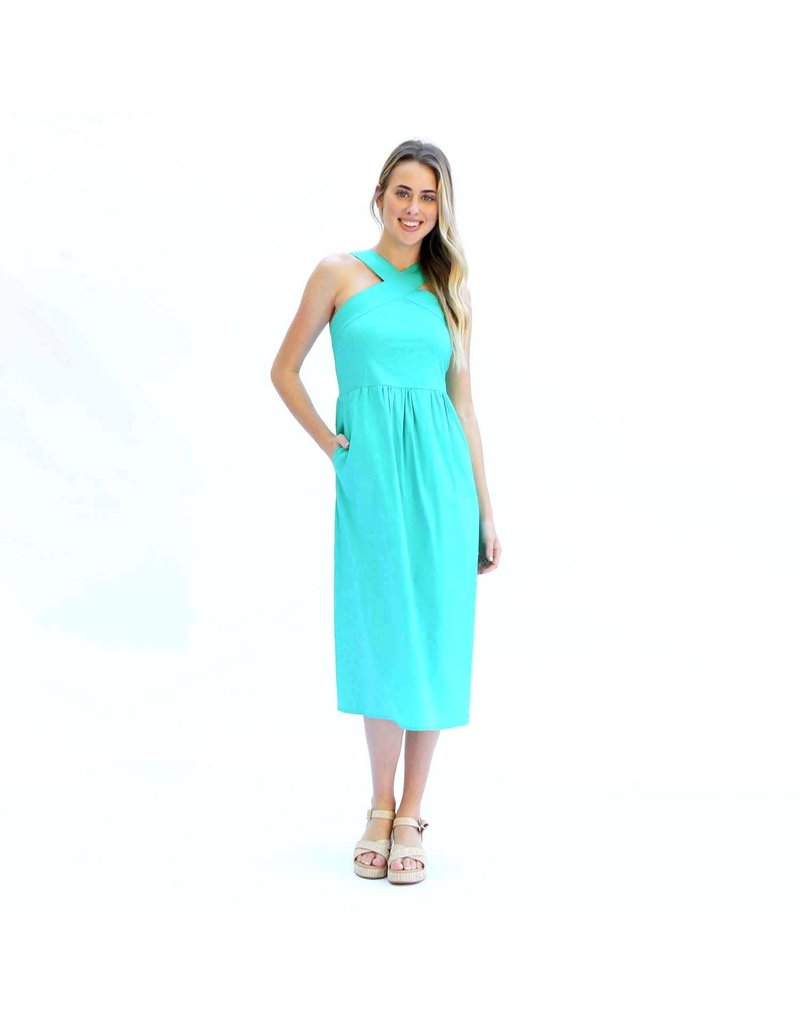 Mary Square Dress Arden Green, medium