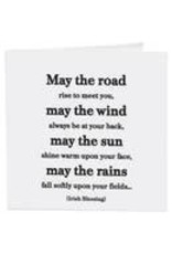 Quotable Cards May The Road (Irish Blessing) Card