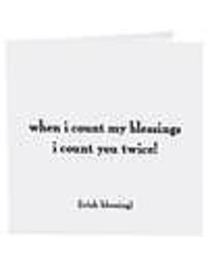 Quotable Cards Count My Blessings (Irish Blessing) Card