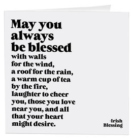 Quotable Cards Always Be Blessed (Irish Blessing) Card