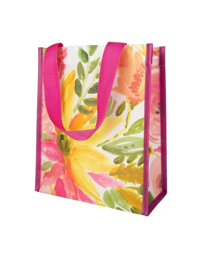 Mary Square Gift Bag | Juliana Blossoms Yellow | Small