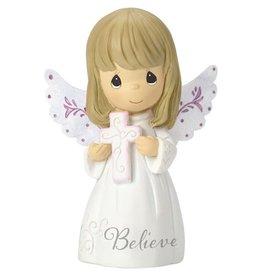 "Precious Moments 3"" Believe Angel Figurine"