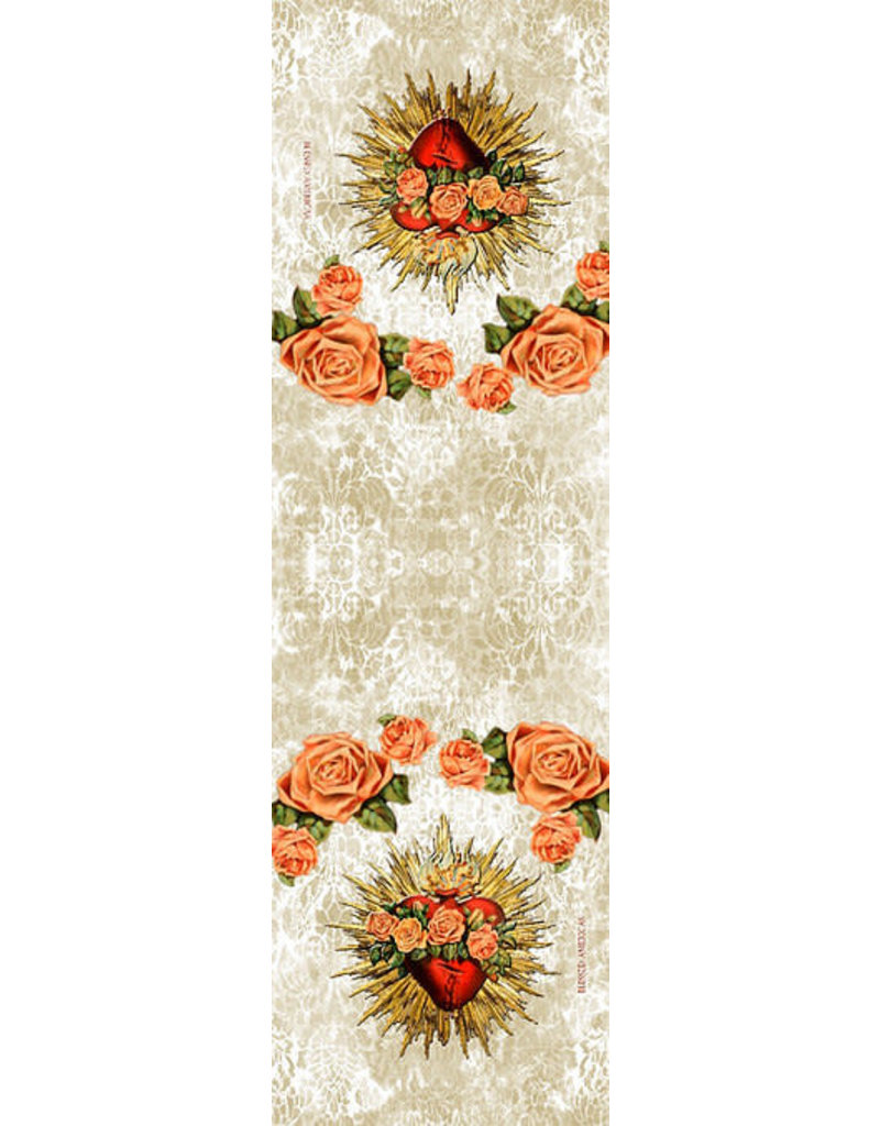 Blessed Americas Immaculate Heart Flowery Scarf