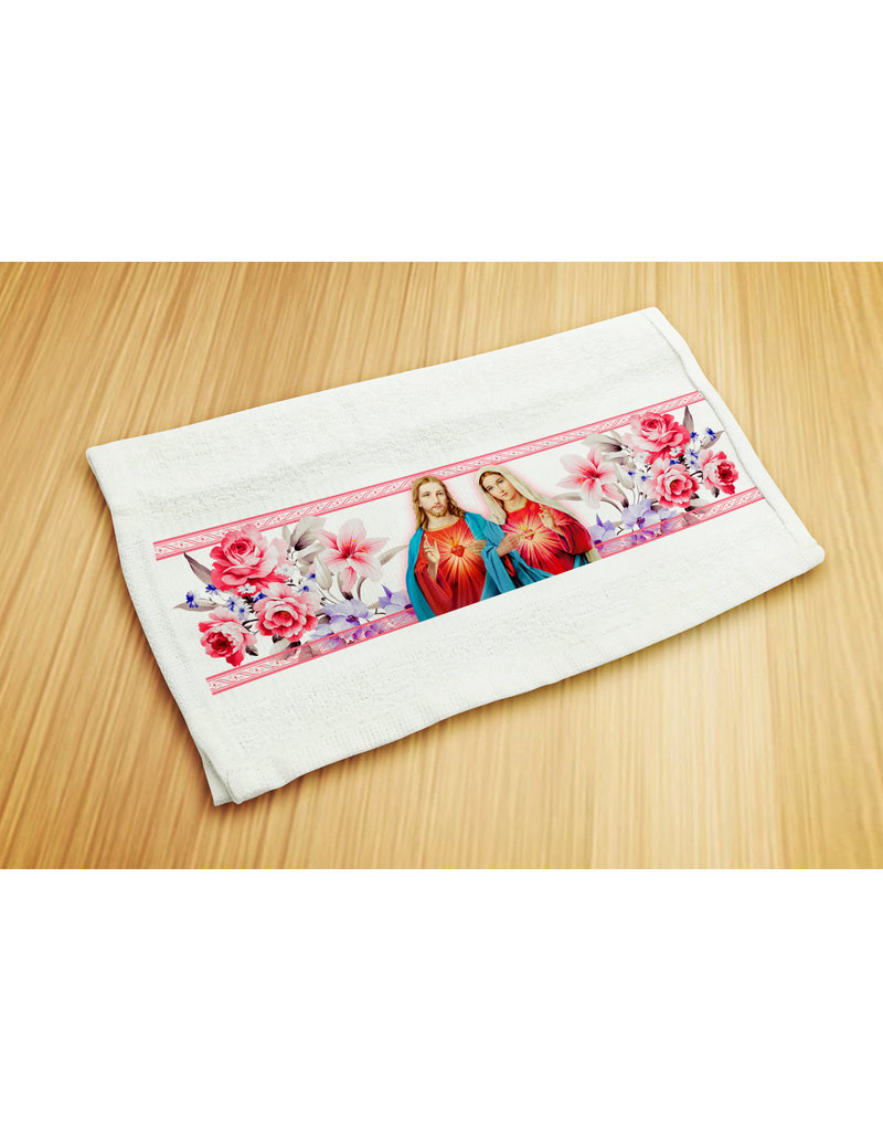 Blessed Americas Holy Hearts Hand Towel