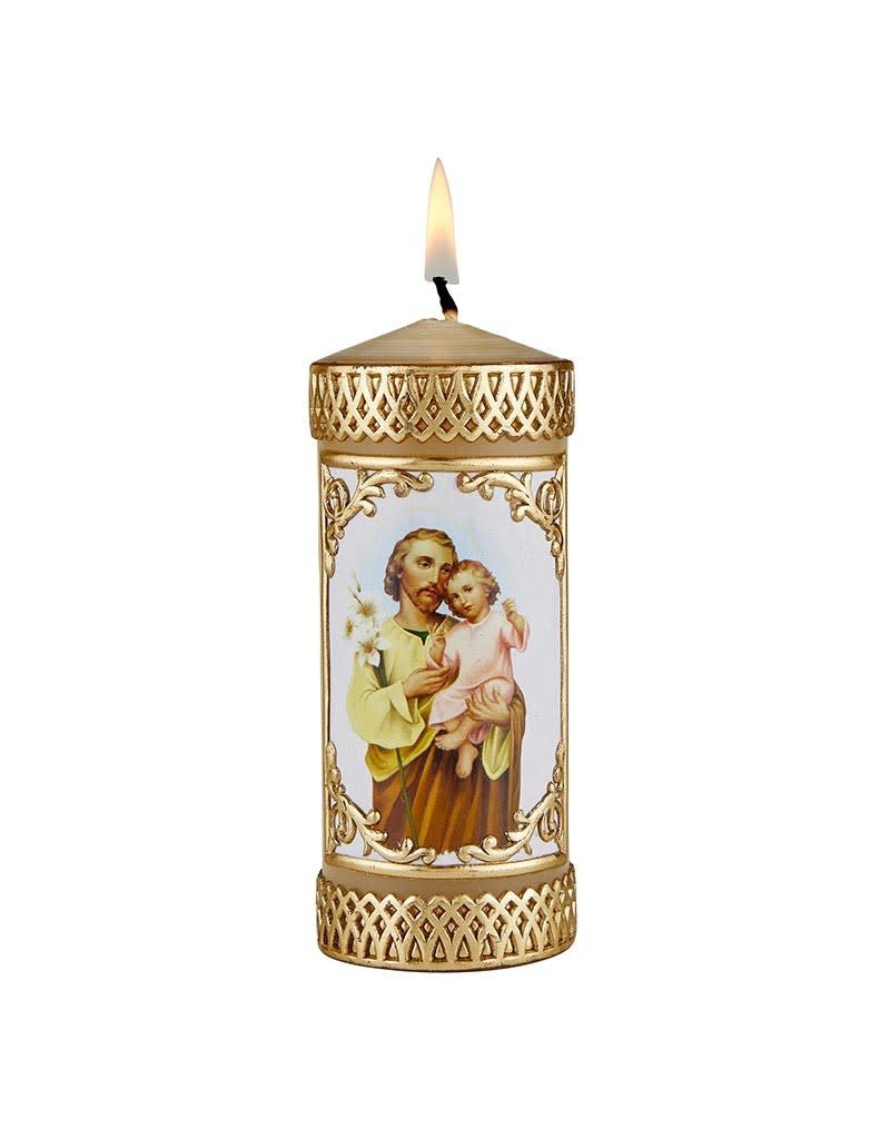 Will & Baumer St. Joseph and Child Devotional Candle