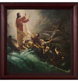 Nelson Fine Art 12 x 12  Jesus Calming the Storm Frame