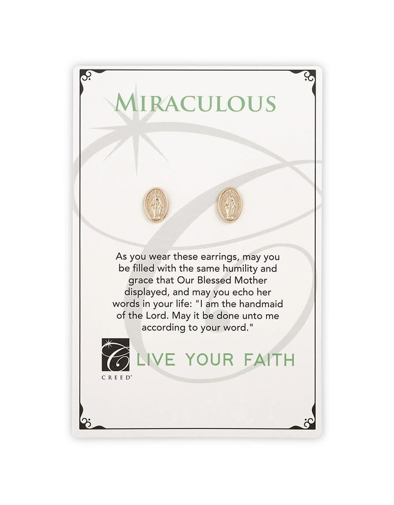 Creed Gold Miraculous Stud Earrings
