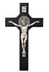 "McVan 10.5"" Black St Benedict Crucifix Boxed"