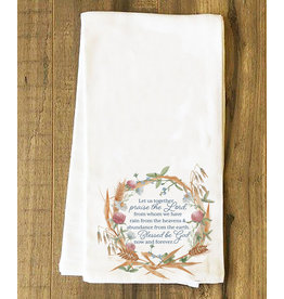 """Nelsons Fine Art and Gifts """"Praise the Lord"""" Tea Towel"""