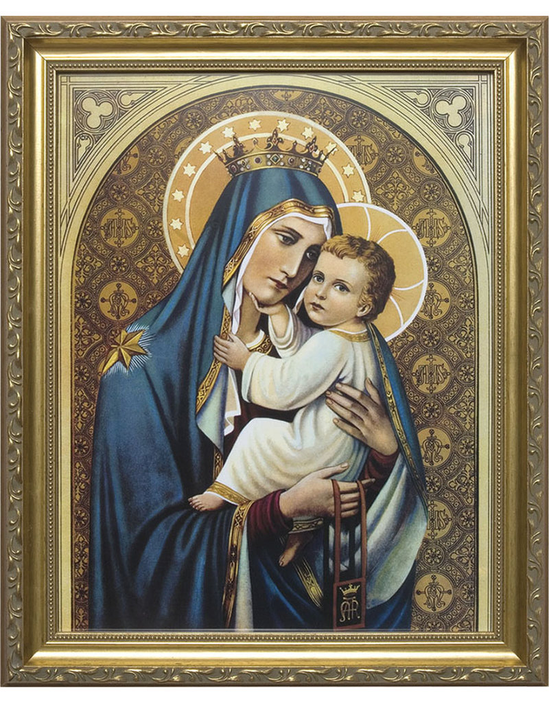 """Nelsons Fine Art and Gifts 11"""" x 14"""" Our Lady of Mt. Carmel Framed Art"""
