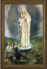 """Nelsons Fine Art and Gifts 8"""" x 12"""" Our Lady of Fatima with Children Framed Art"""