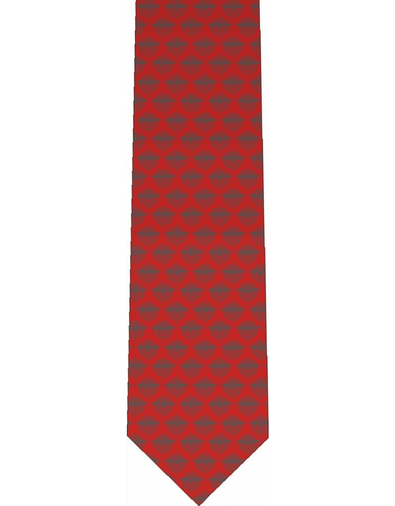 Nelsons Fine Art and Gifts Red Holy Spirit Pattern Tie