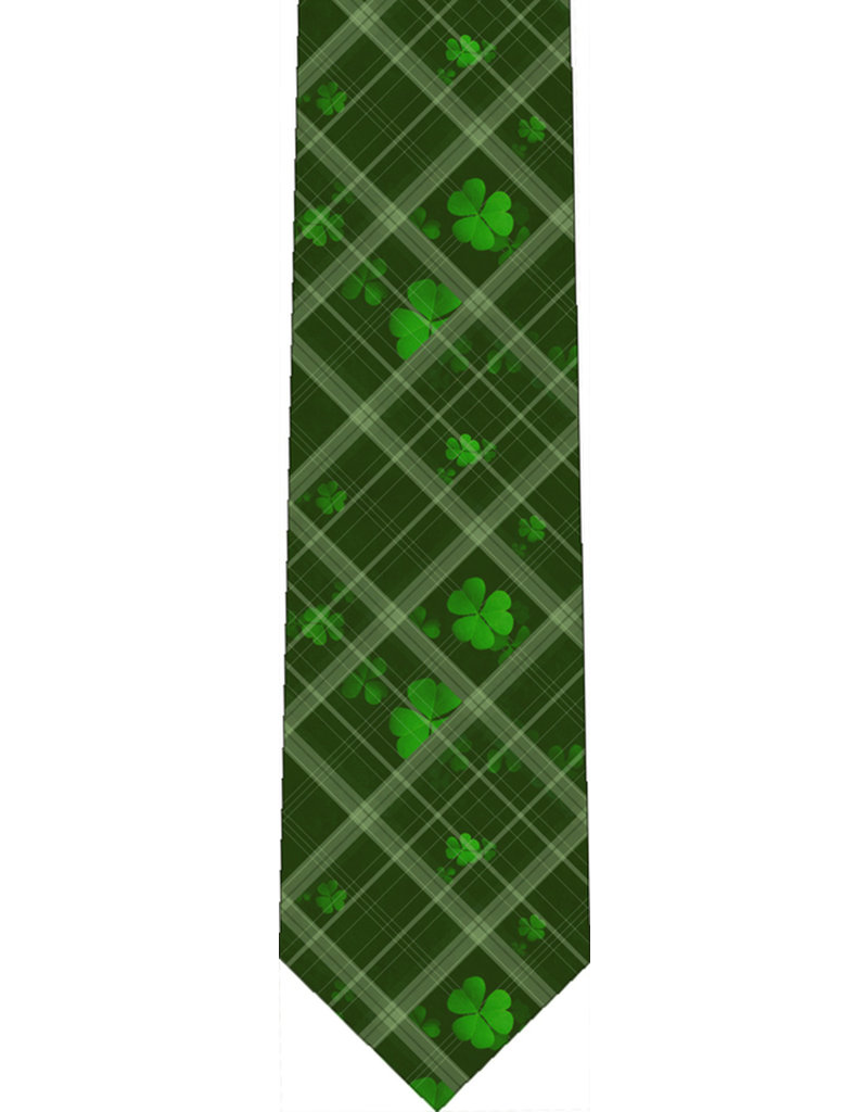 Nelsons Fine Art and Gifts Green Shamrock Plaid Tie