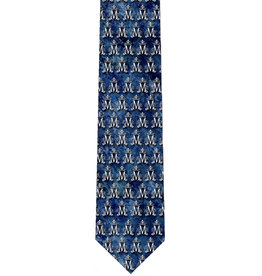 Nelsons Fine Art and Gifts Blue Marian Symbol Pattern Tie