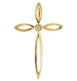 Stuller 14K Yellow .01 CTW Diamond Cross Pendant