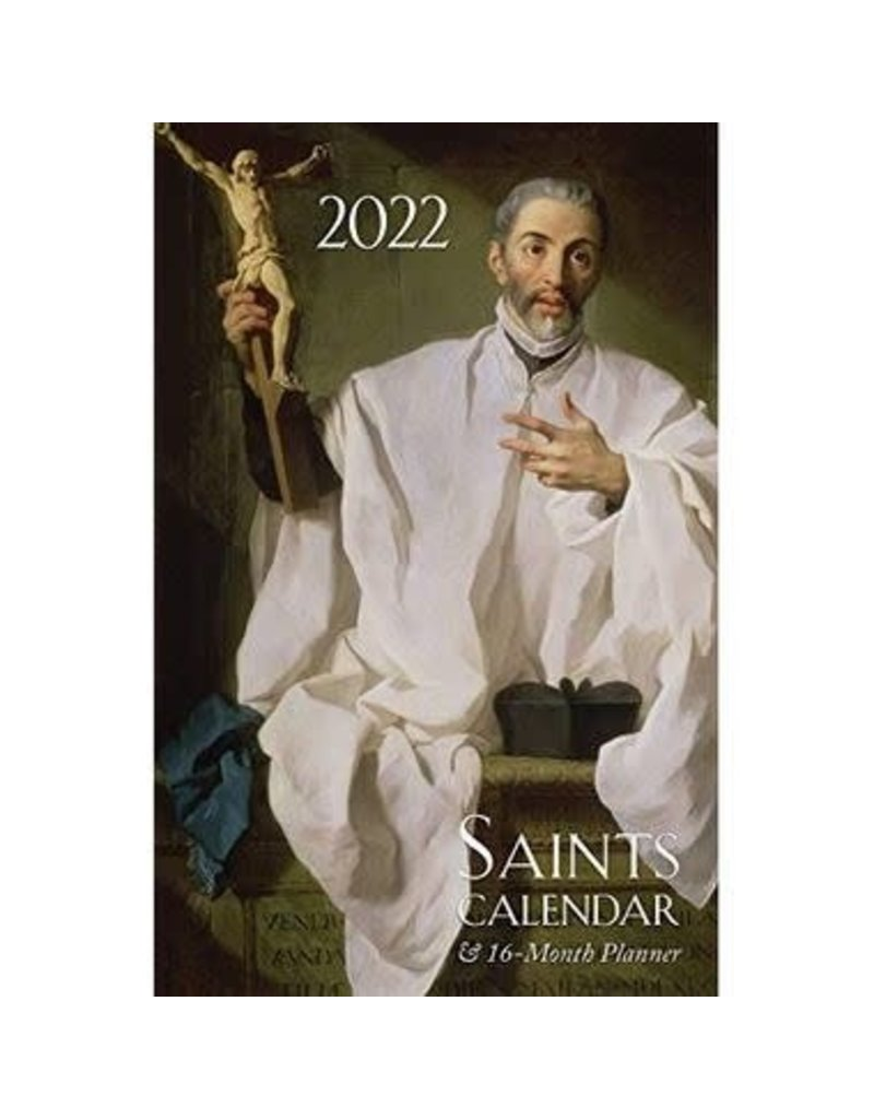 Tan Books 2022 Saints Calendar and 16 Month Daily Planner Spiral Bound